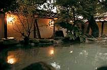 <貸切露天風呂>竹林に囲まれた雰囲気ある貸切り岩露天「竹湯庵」(要予約)