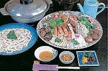 各種鍋料理もお部屋でいただける(寄せ鍋4名盛例),兵庫県,加古川温泉 みとろ荘
