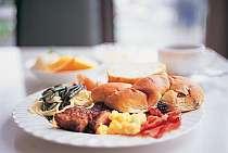 朝食 盛り付け一例