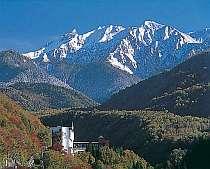秋から冬の北アルプスと山のホテル