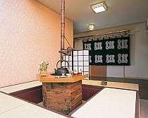 湯上り処&休憩処の囲炉裏のサンルーム