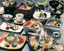 基本料理(鯛・アワビ2名盛・一例)