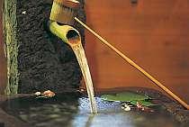 【湧水】館内の水基からは冷たくて美味しい湧き水が流れてる