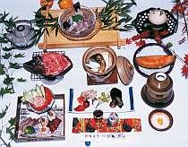 飛騨牛や飛騨の味の夕食です 季節ごとにメニューは変わります