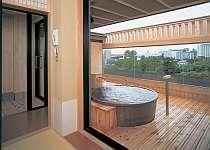 海又は庭の眺めが楽しめる展望貸切風呂「海百景」は10室