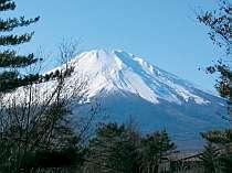 落葉後から新緑前までは、お部屋から顔を出せば見事な富士山が!(座った状態では見られません)