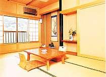 静かな風景が眺められる客室