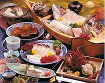 伊勢エビプランのお料理(舟盛3~4人前)