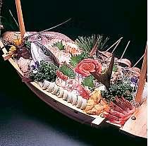 新鮮な海の幸による本当の磯料理(一例)