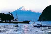 当館露天風呂から見た富士山