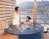 瀬戸内海一望の貸切露天風呂