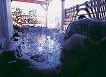 体の芯からあたたか~温泉の露天風呂は贅沢にかけ流し