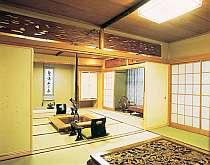 客室タイプは様々。写真は特別室(専用露天風呂付)の一例です。