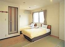 家族・グループのご利用に最適で、機能性を清潔感を重視することで、和室と洋室を兼ね合わせました。