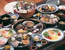 旬の海鮮を炭火焼で頂ける膳のお料理