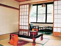客室はシンプルな和室(一例)