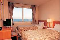 駿河湾を一望できるツインルーム