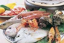 とれとれ地魚や地海老やイカなど豪華海鮮BBQ