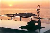 【北の風】客室からの夕陽の眺め