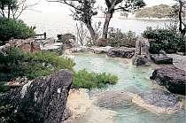 絶景露天風呂「華紋の湯」から不知火海を一望