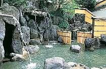 洞窟、蒸し、打たせ湯のある大露天風呂『子宝の湯』