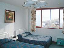 【海側洋室アンティーク2階】お部屋からはえりも岬が見えます
