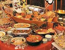バイキングプランの料理一例