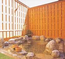 天然温泉、掛け流しの貸切露天風呂