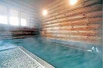 天下の名湯かけ流しのログハウス大浴場