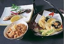 タコ飯と塩焼き