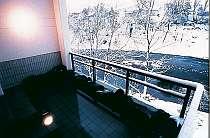 雪見を堪能できる露天風呂