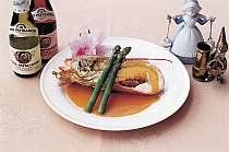 秋には伊勢エビ解禁。特別料理として。海の幸をタンノウ