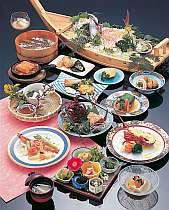 伊勢エビ一匹をお好みの料理法で(舟盛4名)一例,三重県,味覚の宿 幸洋荘