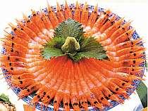 甘エビ菊造り料理例