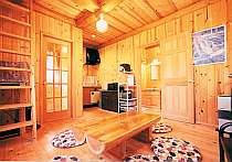 カップル・家族用コテージの室内