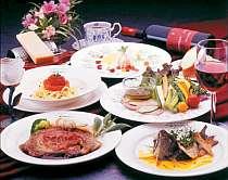[写真]地物素材たっぷり本格フルコース料理は、シェフの自信作