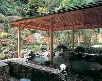 森林浴も愉しめる庭園露天