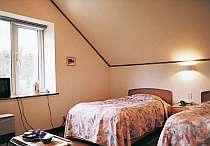 ツインルーム。お部屋からの景色も素晴しい