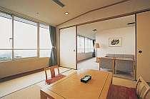 【和洋特別室】和室・応接室・ツインのベッドルームの三間続き