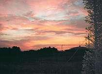宿から見た夕焼け