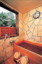 【本館2階】檜の客室露天