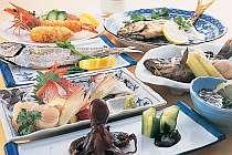 瀬戸内の魚介を満喫 和食一例