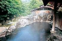 渓流沿いの大露天風呂
