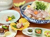 【天然モノ!】 幻の高級魚★天然九絵鍋コースイメージ写真(鍋は3名盛)