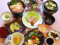 ≪9月~11月≫柿の白和えに奈良県産「大和ポーク」の鍋など全10品の「花会席」