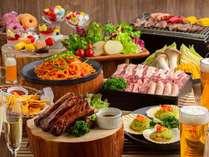 食べ放題BBQ&デザート「スパークリング&ビアガーデン」