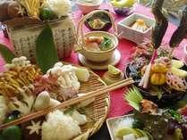 信州の滋味を盛り込んだ和食会席(イメージ)