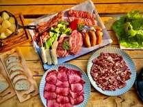 ◆2食付きBBQプラン◆ご家族、ご友人と貸切テラスでBBQを楽しもう!!時間制貸切温泉利用可能!!
