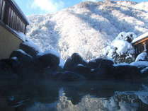 早朝の雪見露天も最高♪