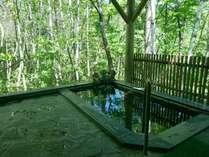 朝の絶景露天風呂。